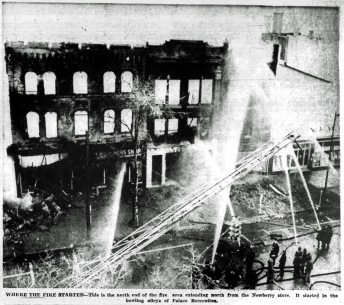 Saratoga Springs: Broadway fire, January 27, 1957